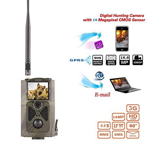 WTY Cámara de Caza 16MP 1080P IP65 Impermeable Vida Silvestre Cámara de la cámara 0.3s Disparador Foto Trampa 3G SMS MMS Cámara de Juego con 2.0 Pulgadas LCD120 ° Rango