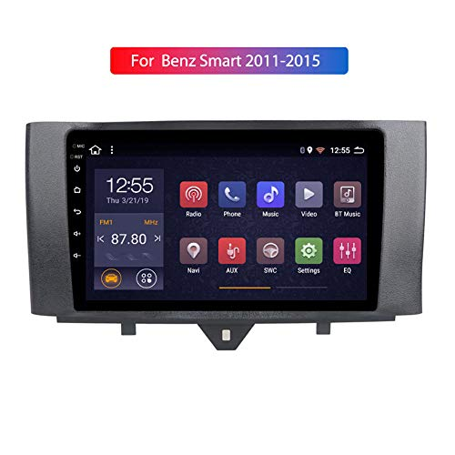 Android 9.0 9 Pulgadas HD Full Touch Car Multimedia System para Benz Smart 2011-2015 Navigation GPS Quad Core Bluetooth Car Support FM Radio Receiver/SWC/Mirror Link/Rear View Camera