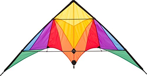 Hq Kites Eco Line Sport Kite - Trigger Rainbow- 35 Inch Double - Line Beginner Stunt Kite - Active Outdoor Fun for Ages 14 Years and Older