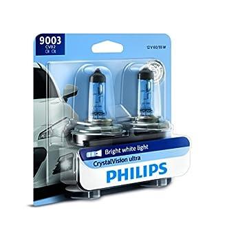 Philips 9003 CrystalVision Ultra Upgrade Bright White Headlight Bulb 2 Pack