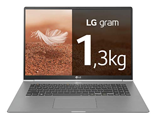 "LG Gram 17Z990V - Ordenador portátil ultrafino de 17"" WQXGA IPS (Intel i7, 8GB RAM, 512GB SSD, Windows 10) Plata - Teclado QWERTY español"
