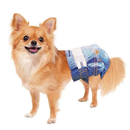 ドギーマン ジーンズ風パンツ ペット用 3Sサイズ 18枚入×2個 (まとめ買い)