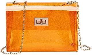 TOOGOO Jelly Bag Shiny Candy Color Crossbody Handbag Girl Favorite Party Bag Messenger Shoulder Beach Bag Purple