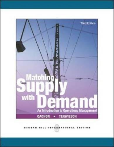 Cachon, G: Matching Supply with Demand: An Introduction to O