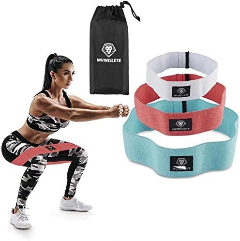 Yoga Resistance Exercise Elastic Fabric Booty Bands Fitness Workout Hip Band Set