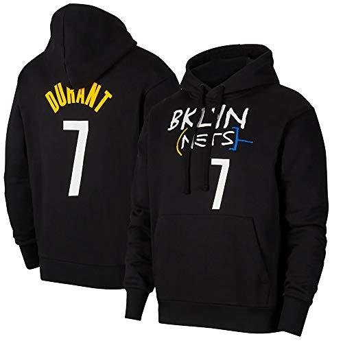 BMSD Sudaderas con Capucha Hombre Jersey NBA Brooklyn Nets Moda Deporte Estampado de béisbol Uniforme Sudaderas de Manga Larga, XXL