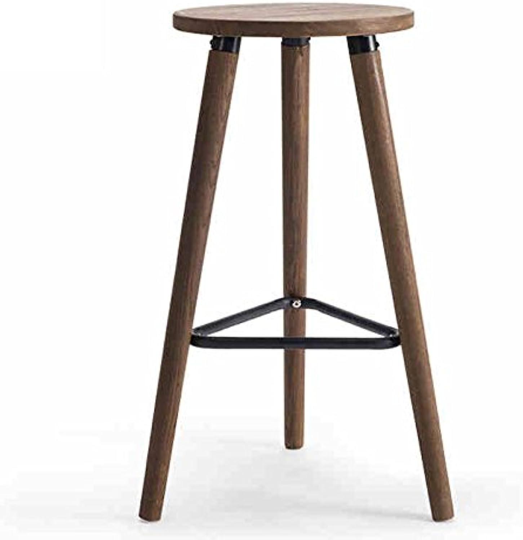 Solid Wood Stool, Restaurant Bar Creative High Stool