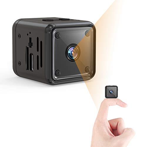 Mini Kamera, 1080P HD Kleine Überwachungskamera Lange Batterielaufzeit Videoanrufkamera Nanny Sicherheitskamera für Innen Aussen mit Bewegungserfassung und Infrarot Nachtsicht