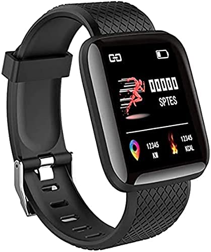 DARCY Smart Watch ID 116 Fitness Tracker Watch Heart Rate with Activity Tracker Waterproof Body Functions Like Steps Counter Calorie Counter Heart Rate Monitor Black