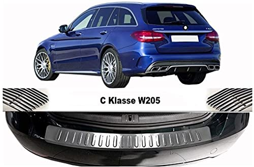 Para C CLASS S205 W205 Estate Acero Inoxidable CROMADO parachoques trasero Protector Sill Scratch Guard Cover (2014+)