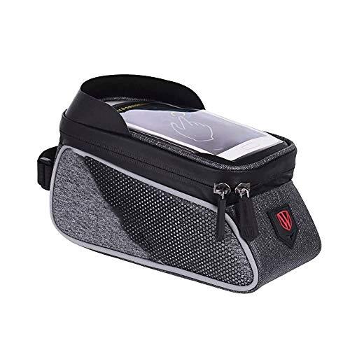 Sdesign Montaña bici del bolso de gran capacidad Frente haz bolsa de la bici del camino del equipo de montar a horcajadas bolsa a prueba de agua que puede soportar con pantallas de menos de 6.0 pulgad