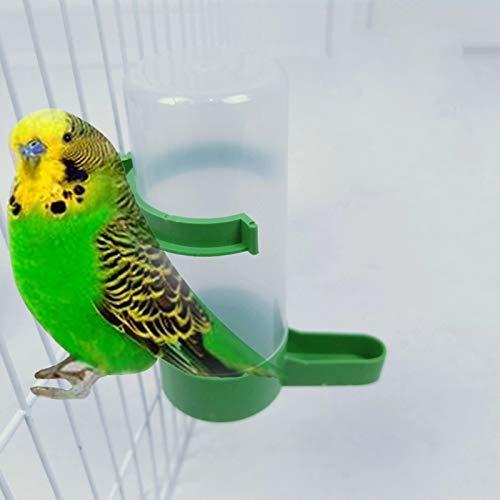 Vogel-Wasserspender, Futterbehälter, zum Aufhängen im Vogelkäfig, automatische Vogelfutterstation für Papageien, Wellensittiche, Nymphensittiche, Sittiche, Sittiche, Sittiche, Sittiche,