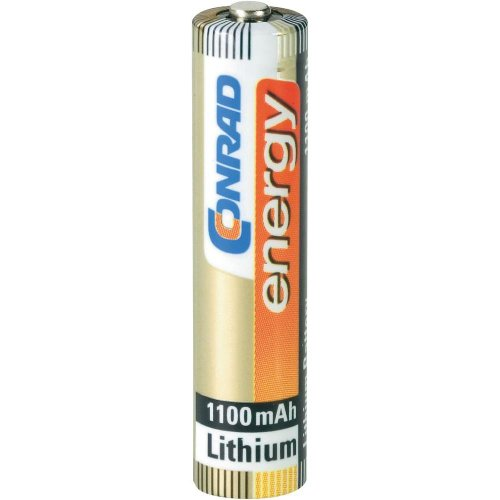 Conrad 650554 Lithium 1.5 V Non-Rechargeable Battery – Non-Rechargeable Batteries (Lithium, Cylindrical, 1.5 V, AAA, 1100 mAh, 10 Year (s))