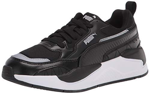 PUMA Men's X-Ray 2 Square Sneaker, Black Black White, 4 Women/5.5 Men