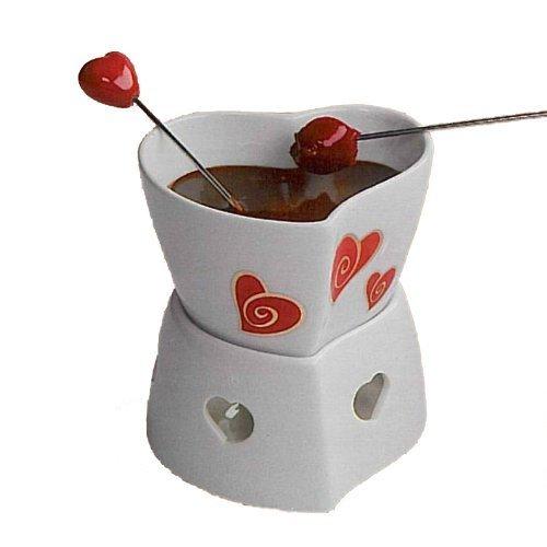 Cuore per fonduta di cioccolato.