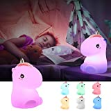 Night Lights for Kids,GoLine Unicorn Gifts for Girls,Toys for 2 3 4 5 6 7 8 Year Old Girls Kids,Cute Unicorn Night Light for Christmas Nursery Bedroom Party.