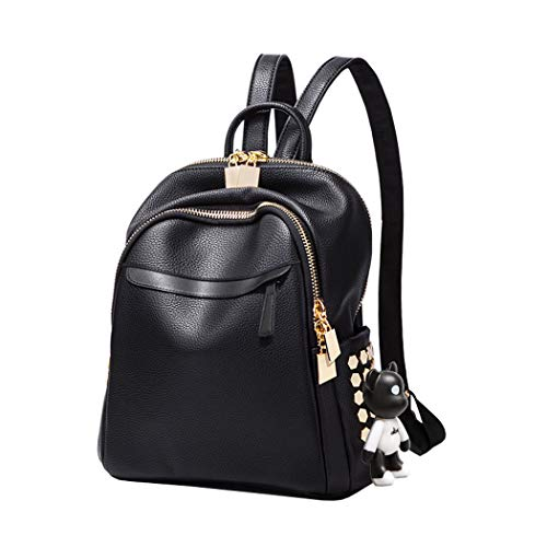 BUKESIYI Damen Tasche Rucksack Handtasche Frauen backpack Klein Anti Diebstahl Schulrucksack Laptop Weekender PU Leder CCDE78210 Schwarz