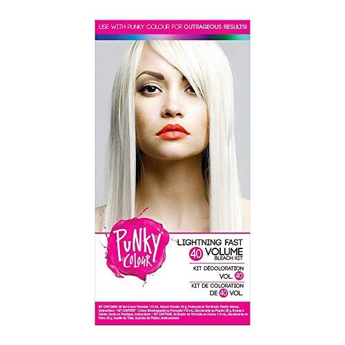 Punky Colour LIGHTNING FAST 40 Volume BLEACH KIT (w/Sleek Tint Brush) Jerome Russell Bright Bleaching Lightening Hair for Punky Color (40 Vol. Kit)