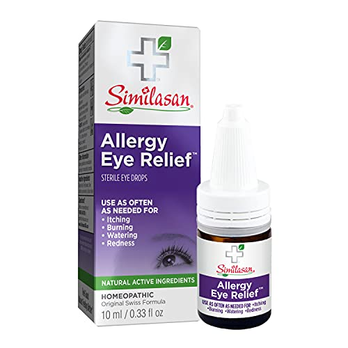 Similasan Allergy Eye Relief Eye Drops 0.33 Ounce Bottle, for Temporary Relief from Red Eyes, Itchy Eyes, Burning Eyes, and Watery Eyes
