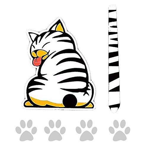 Arichtop Suministros patrón del Gato móvil Posterior del Coche Pegatina de limpiaparabrisas Auto-Adhesivo de la Etiqueta Animales Arte del Tatuaje Decorativos