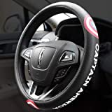 Yangyue, Volante per auto, Coprivolante per auto Protezione ambientale Anello in gomma Coperchio interno Accessori in pelliccia Auto Captain America A