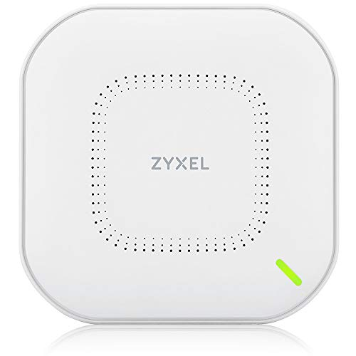 Zyxel True WiFi6 Wireless Access Point (802.11ax Dual Band), 3.0 Gbps with Quad Core CPU and Dual 4x4 5GHz + 2x2 2.4GHz MU-MIMO Antenna, Manageable via Nebula APP/Cloud or Standalone [NWA210AX]