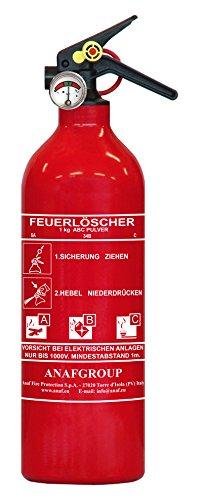 AnafGroup Pulverfeuerlöscher ABC 5A-34B-C, 1kg
