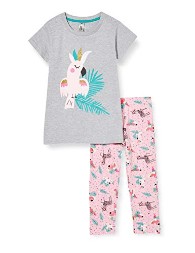 mon P'tit Dodo BF.Hola.PCO Conjuntos de Pijama, Gris (Gris Chine/Nude Gris Chine/Nude), 8 años para Niñas