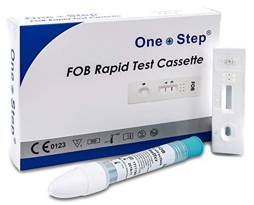 One+Step Darmtest Schnelltest I Komplettes Set zur Früherkennung I FOB Selbsttest für Darmgesundheit I Darmkrebs I Darmbakterien I Darmkur I Darmvorsorge