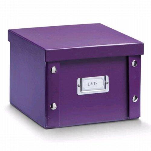 2x ZELLER DVD BOX mit DECKEL lila für 26 DVD's NEU AUFBEWAHRUNGSBOX KISTE
