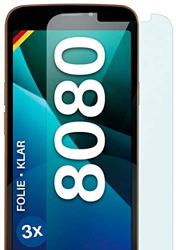 moex Klare Schutzfolie kompatibel mit Doro 8080 - Bildschirmfolie kristallklar, HD Bildschirmschutz, dünne Kratzfeste Folie, 3X Stück