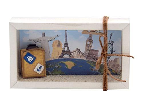 ZauberDeko Geldgeschenk Verpackung Reise Urlaub Weltreise Geldverpackung Gutschein Klein
