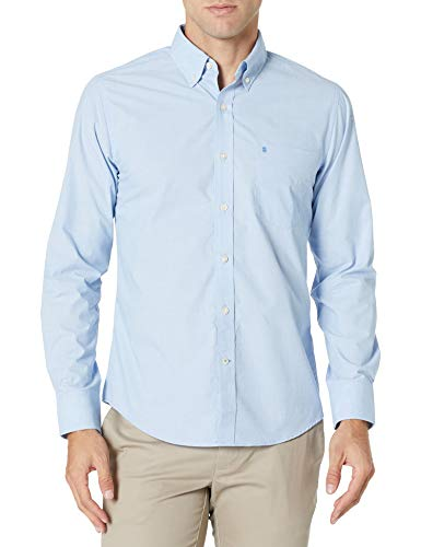 IZOD mens Big and Tall Long Sleeve Stretch Performance Solid button down shirts, American Dream, XX-Large Tall US
