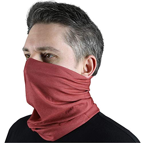 Mission Made Neck Gaiter Face Cover, Sun Guard, Balaclava with UPF30+ Sun Protection for Dust, Outdoors, Sun, Sports, Military (Red)