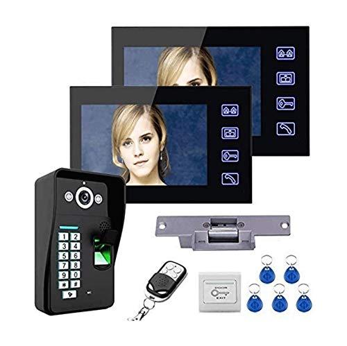 YQQQQ Kit de Sistema de Intercomunicación con Videoportero (Color : Black)