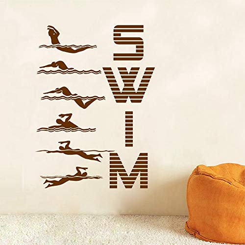 yaofale Patrón de natación de Deportes acuáticos Pegatinas de Pared de Vinilo calcomanías de Arte Creativo Piscina Gimnasio Sala de Estar Familiar decoración