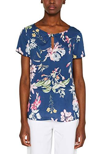 ESPRIT Collection Damen 049EO1F002 Bluse, Blau (Navy 400), (Herstellergröße: 36)
