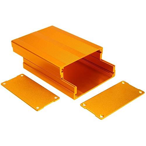 without brand 100x76x35mm Placa de Circuito 1pc de Aluminio Carcasa de la Caja de Oro Carcasas for electrónica Proyecto Amplificador