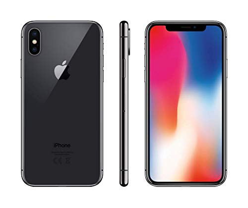 Apple iPhone X 256GB - Gris Espacial - Desbloqueado (Reacondicionado)