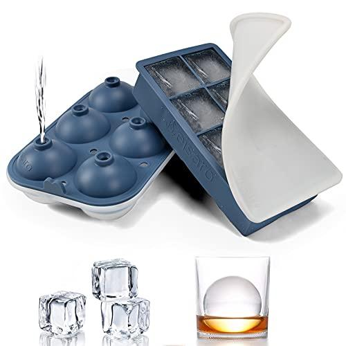 Stampo per cubetti di ghiaccio grande XXL 60mm stampo per palline di ghiaccio in silicone con coperchio, 8 scomparti, Marina Militare