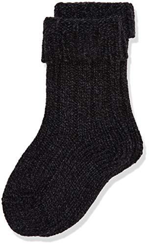 FALKE Kinder Socken Boot - Woll-/Kaschmirmischung, 1 Paar, Schwarz (Black 3000), Größe: 31-34