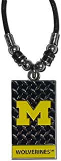 NCAA Michigan Wolverines Diamond Plate Rope Necklace, 20-Inch