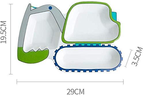 lyf Keramik Cartoon Kinderbesteck Teller, Gitter kreative unregelmäßige Baby Rice Bowl Home Separation Persönlichkeit Teller