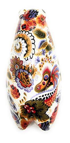 Ambiance Sud Dekoration, Kunstharz, Zikaden-Motiv, Orange und Lavendel, 18,3 x 9,7 x 5,8 cm