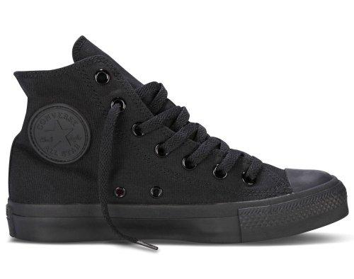 Converse Ctas Core Hi Unisex Sneakers, für Erwachsene, Schwarz - Nero Black Monocrom - Größe: 43 EU
