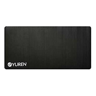 "YUREN Thick Yoga Mat for Men Extra Wide Long 72"" X 35"" X 1/2"" XL Heavy Duty Yoga Pilates Cardio Strong Structure 15mm Comfort Home Gym Workout Mat Black"