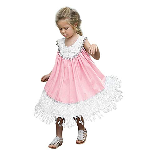 Longra Baby meisjes ruches mouwloze jurk bloemen patchwork kant prinses ruches jurk bruiloft avond doop ceremonie mooie jurk
