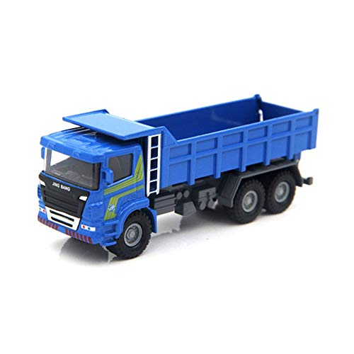 Xolye Alloy Loader Boy Toy Autometallaufbau LKW Muldenkipper Muck Kipper Modell Simulation Sliding Transport-LKW-Spielzeug (Color : Blau)