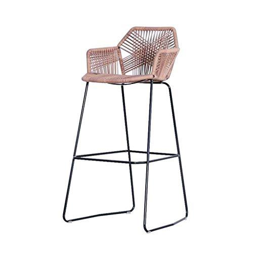 DJ Wicker chair Kinderstoel Buiten bartafel en stoelen Barstoel Receptiestoel Balkonstoel voor vrije tijd