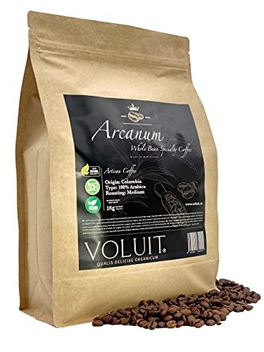 VOLUIT® ARCANUM – Café en Grain | Sélection Exclusive du Colombie, Origine Unique | Café Artisanal de Spécialité Premium | Café Torréfié en Grains 100% Arabica | Torréfaction Artisanale - 1KG